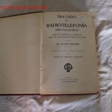 Radios antiguas: TRATADO DE RADIOTELEFONIA. Lote 27221887