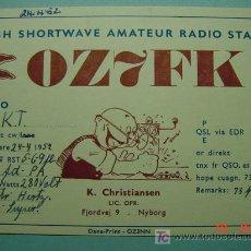 Radios antiguas: 2119 DINAMARCA DENMARK QSL CARD - TARJETA RADIOAFICIONADO - MAS DE ESTE TIPO EN COSAS&CURIOSAS. Lote 18921665