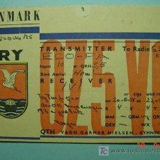 Radios antiguas: 2120 DINAMARCA DENMARK QSL CARD - TARJETA RADIOAFICIONADO - AÑO 1948 MAS EN COSAS&CURIOSAS. Lote 5859762