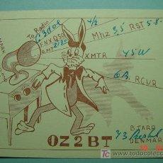 Radios antiguas: 2121 DINAMARCA DENMARK QSL CARD - TARJETA RADIOAFICIONADO - AÑO 1948 MAS EN COSAS&CURIOSAS. Lote 5859812