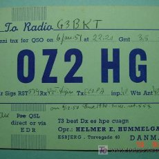 Radios antiguas: 2122 DINAMARCA DENMARK QSL CARD - TARJETA RADIOAFICIONADO - AÑO 1951 MAS EN COSAS&CURIOSAS. Lote 5859848