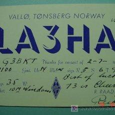 Radios antiguas: 2125 NORUEGA NORWAY NORGE QSL CARD - TARJETA RADIOAFICIONADO - AÑO 1958 MAS EN COSAS&CURIOSAS. Lote 8897160