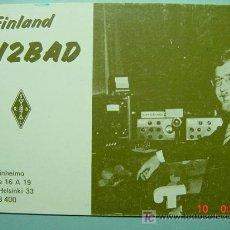 Radios antiguas: 2126 FINLANDIA FINLAND SUOMI QSL CARD - TARJETA RADIOAFICIONADO - AÑO 1979 MAS EN COSAS&CURIOSAS. Lote 5859991