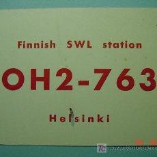 Radios antiguas: 2127 FINLANDIA FINLAND SUOMI QSL CARD - TARJETA RADIOAFICIONADO - AÑO 1961 MAS EN COSAS&CURIOSAS. Lote 8897163