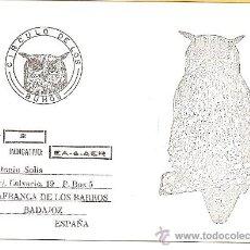 Radios antiguas: TARJETA POSTAL DE RADIO AFICIONADO: VILLAFRANCA DE LOS BARROS (BADAJOZ). Lote 23127354