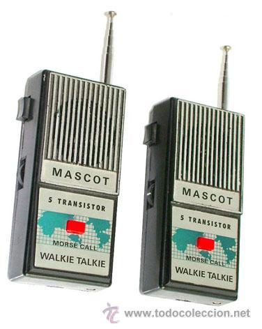 WALKIE TALKIE, MASCOT, MADE EN JAPON (Radios, Gramófonos, Grabadoras y Otros - Radioaficionados)