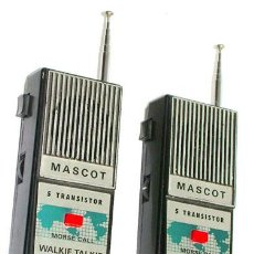 Radios antiguas: WALKIE TALKIE, MASCOT, MADE EN JAPON. Lote 29497075