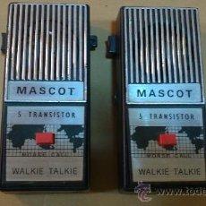 Radios antiguas: &MITICOS-TRANSISTORES(WALKIE-TALKIE).-MASCOT-.. Lote 30311702