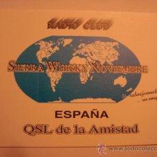 Radios antiguas: 1 TARJETA - POSTAL - EQUIPO RADIO AFICCIONADO - USB - QSO - QSL RADIOAFICCIONADO . Lote 32308450