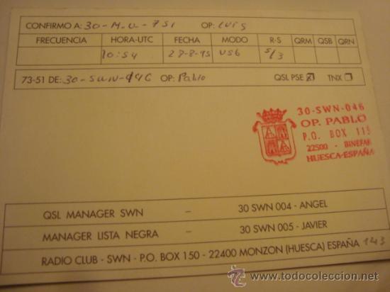 Radios antiguas: 1 tarjeta - postal - equipo radio aficcionado - usb - qso - qsl radioaficcionado - Foto 2 - 32308438