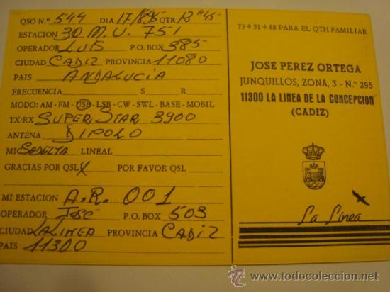 Radios antiguas: 1 tarjeta - postal - equipo radio aficcionado - usb - qso - qsl radioaficcionado - Foto 2 - 32308406