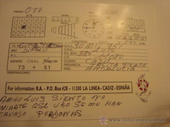 Radios antiguas: 1 tarjeta - postal - equipo radio aficcionado - usb - qso - qsl radioaficcionado - Foto 2 - 32308389