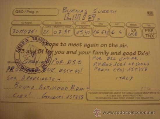 Radios antiguas: 1 tarjeta - postal - equipo radio aficcionado - usb - qso - qsl radioaficcionado - Foto 2 - 32308371