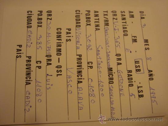 Radios antiguas: 1 tarjeta - postal - equipo radio aficcionado - usb - qso - qsl radioaficcionado - Foto 2 - 32308341