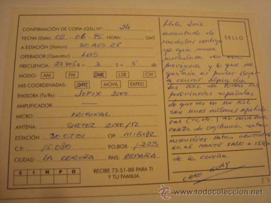 Radios antiguas: 1 tarjeta - postal - equipo radio aficcionado - usb - qso - qsl radioaficcionado - Foto 2 - 32308170