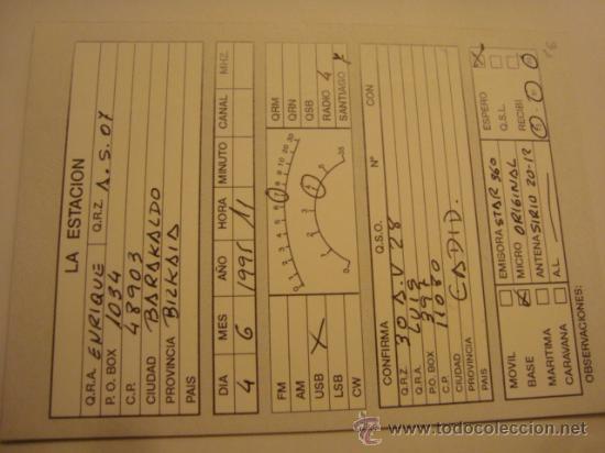 Radios antiguas: 1 tarjeta - postal - equipo radio aficcionado - usb - qso - qsl radioaficcionado - Foto 2 - 32308151