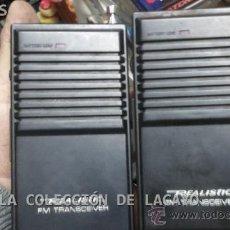Radios antiguas: 2 ANTIGUOS WALKIE TALKIE REALISTIC FM TRANSCEIVERS AÑO 1970 . Lote 32300524