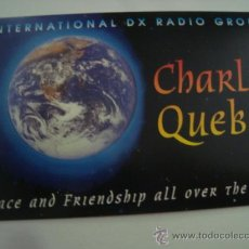 Radios antiguas: 1 TARJETA - POSTAL - EQUIPO RADIO AFICCIONADO - USB - QSO - QSL RADIOAFICCIONADO . Lote 32306061
