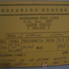 Radios antiguas: 1 TARJETA - POSTAL - EQUIPO RADIO AFICCIONADO - USB - QSO - QSL RADIOAFICCIONADO . Lote 32306076
