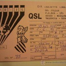Radios antiguas: 1 TARJETA - POSTAL - EQUIPO RADIO AFICCIONADO - USB - QSO - QSL RADIOAFICCIONADO . Lote 32308078