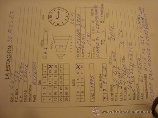 Radios antiguas: 1 tarjeta - postal - equipo radio aficcionado - usb - qso - qsl radioaficcionado - Foto 2 - 32308063
