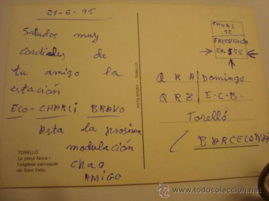 Radios antiguas: 1 tarjeta - postal - equipo radio aficcionado - usb - qso - qsl radioaficcionado - Foto 2 - 32308050