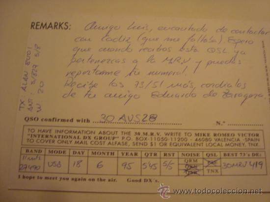 Radios antiguas: 1 tarjeta - postal - equipo radio aficcionado - usb - qso - qsl radioaficcionado - Foto 2 - 32308015