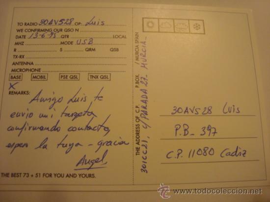 Radios antiguas: 1 tarjeta - postal - equipo radio aficcionado - usb - qso - qsl radioaficcionado - Foto 2 - 32308006