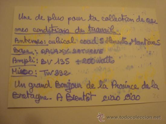 Radios antiguas: 1 tarjeta - postal - equipo radio aficcionado - usb - qso - qsl radioaficcionado - Foto 2 - 32307970