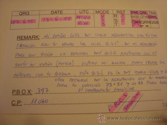 Radios antiguas: 1 tarjeta - postal - equipo radio aficcionado - usb - qso - qsl radioaficcionado - Foto 2 - 32307917