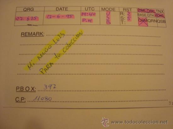 Radios antiguas: 1 tarjeta - postal - equipo radio aficcionado - usb - qso - qsl radioaficcionado - Foto 2 - 32307893