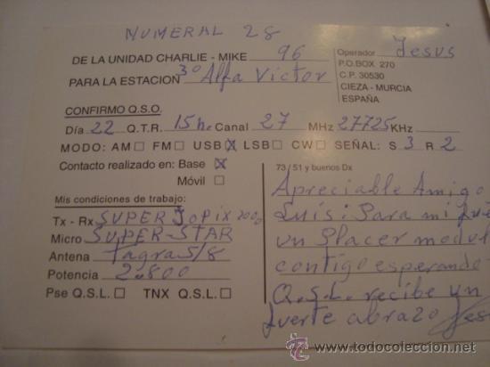 Radios antiguas: 1 tarjeta - postal - equipo radio aficcionado - usb - qso - qsl radioaficcionado - Foto 2 - 32307852