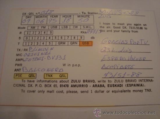 Radios antiguas: 1 tarjeta - postal - equipo radio aficcionado - usb - qso - qsl radioaficcionado - Foto 2 - 32307842