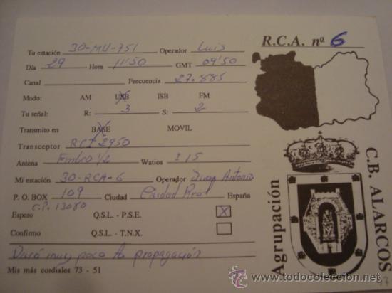 Radios antiguas: 1 tarjeta - postal - equipo radio aficcionado - usb - qso - qsl radioaficcionado - Foto 2 - 32307803