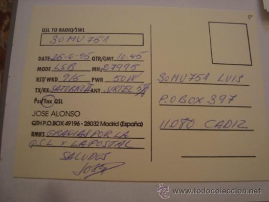 Radios antiguas: 1 tarjeta - postal - equipo radio aficcionado - usb - qso - qsl radioaficcionado - Foto 2 - 32307783