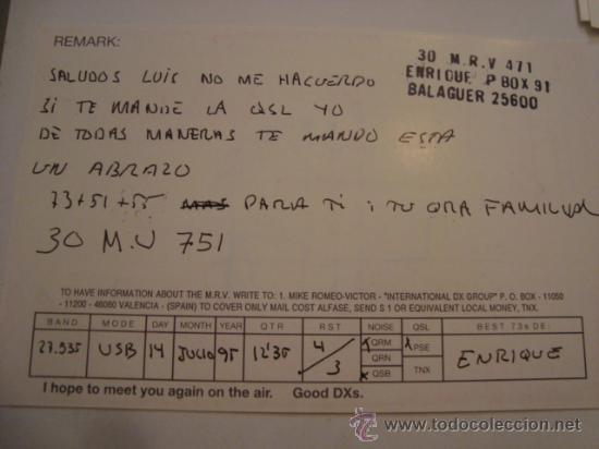 Radios antiguas: 1 tarjeta - postal - equipo radio aficcionado - usb - qso - qsl radioaficcionado - Foto 2 - 32307768