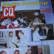 Radios antiguas: CQ RADIO AMATEUR - Nº 200 - AGOSTO 2000. Lote 32449859