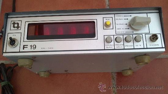 Radios antiguas: -TRANSMISIONES-MEDIDOR(GENERADOR) DE FRECUENCIAS DE RADIO.MODELO:F 19- - Foto 3 - 33960033