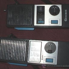Radios antiguas: PAREJA DE WALKIE TALKIE GEMBOX MODEL KT-77 MADE IN JAPAN. Lote 35496315