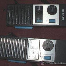 Radios antiguas: PAREJA DE WALKIE TALKIE GEMBOX MODEL KT-77 MADE IN JAPAN. Lote 35496315