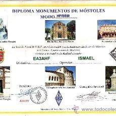 Radios antiguas: DIPLOMA RADIO AFICIONADOS DE MOSTOLES MIDE 29X21 CM.. Lote 35823138