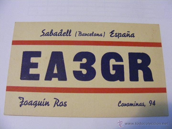 ESPANA QSL CARD LA LAGUNA DE TENERIFE, ISLAS CANARIAS - TARJETA RADIOAFICIONADO - AÑO 1950 (Radios, Gramófonos, Grabadoras y Otros - Radioaficionados)