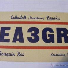 Radios antiguas: ESPANA QSL CARD LA LAGUNA DE TENERIFE, ISLAS CANARIAS - TARJETA RADIOAFICIONADO - AÑO 1950. Lote 43085368