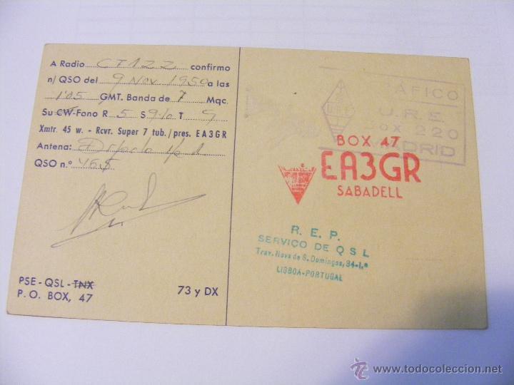 Radios antiguas: ESPANA QSL CARD LA LAGUNA DE TENERIFE, ISLAS CANARIAS - TARJETA RADIOAFICIONADO - AÑO 1950 - Foto 2 - 43085368