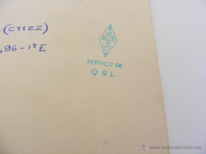 Radios antiguas: PORTUGAL QSL CARD LISBOA- TARJETA RADIOAFICIONADO - AÑO 1951 CON SELLO - Foto 2 - 43143827