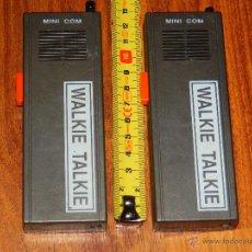 Radios antiguas: WALKIE TALKIE MINI COM TALKIES ANTIGUOS VINTAGE SIN PROBAR VER FOTOS. Lote 43758265
