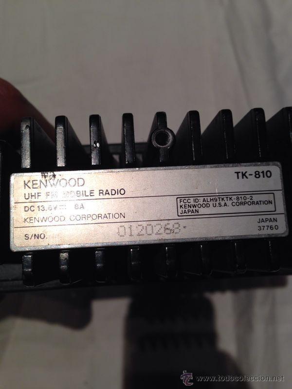 Radios antiguas: EMISORA DE RADIOAFICIONADO KENWOOD MODELO TK 810 - Foto 4 - 46966422