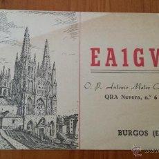 Radios antiguas: TARJETA RADIOAFICIONADO CATEDRAL DE BURGOS. Lote 48695630