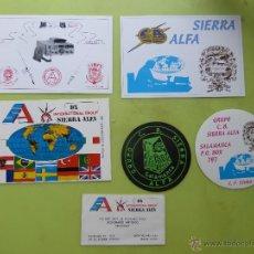 Radios antiguas: LOTE DE GRUPO SIERRA ALFA, RADIOAFICIONADOS, TARJETAS Y PEGATINAS SALAMANCA. Lote 49232564