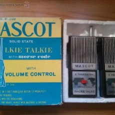 Radios antiguas: WALKIE TALKIE MASCOT MODELO W2106 AÑOS 70 MADE IN JAPAN EN BUEN ESTADO GENERAL.. Lote 50754258